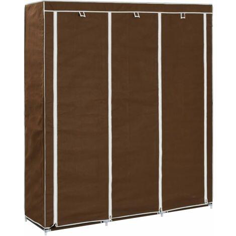 Lykins 150cm Wide Portable Wardrobe by Rebrilliant - Brown