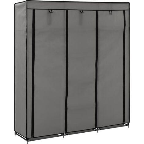 Lykins 150cm Wide Portable Wardrobe by Rebrilliant - Grey