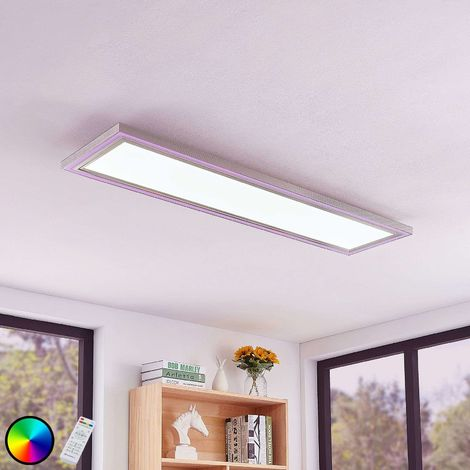 Lynn LED ceiling light, CCT+RGB, angular, 120x30cm