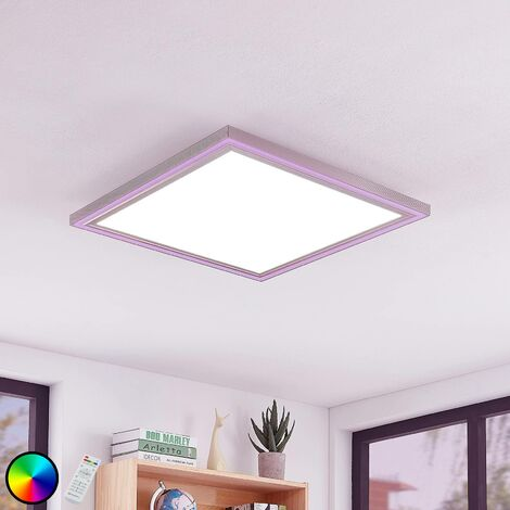Lynn LED ceiling light, CCT+RGB, angular, 60x60 cm