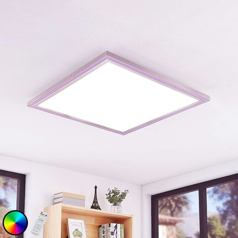 Lynn LED ceiling light, CCT+RGB, angular, 75x75 cm