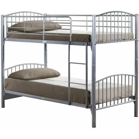 """main image of """"Lynton Single 3FT Metal Bunk Bed - Can split into 2 3FT Beds - Mattresses Available"""""""