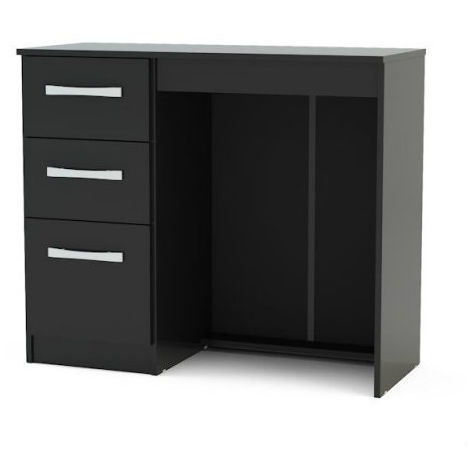 Lynx 3 Drawer Dressing Table - Black