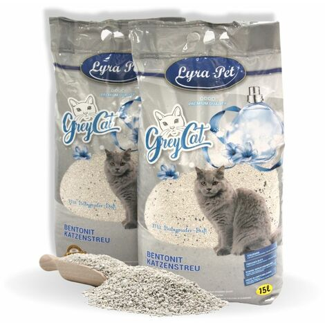 Lyra Pet® 30 L GreyCat Katzenstreu mit Babypuderduft