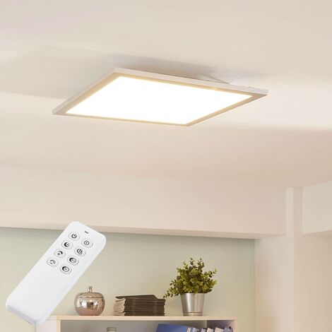 Lysander LED ceiling light, dimmable 39.5cm silver