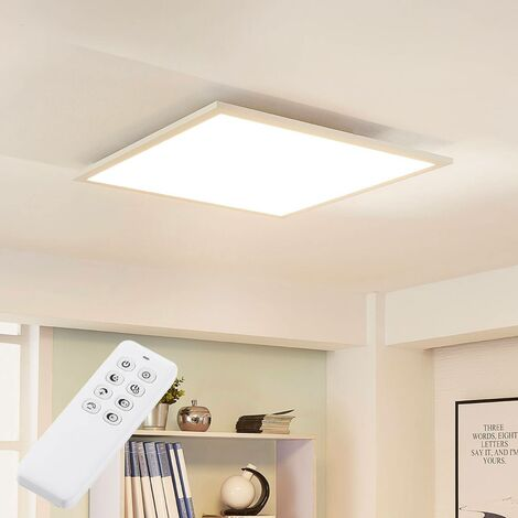 Lysander square LED ceiling light w. dimmer