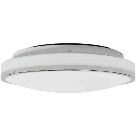 Lyss LED bathroom ceiling light with chrome frame