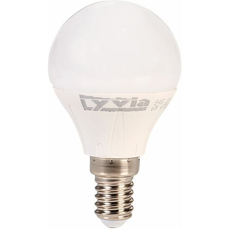 LyvEco 3640 Golf Ball LED Light Bulb Warm White 6W 470lm 2700K SES E14