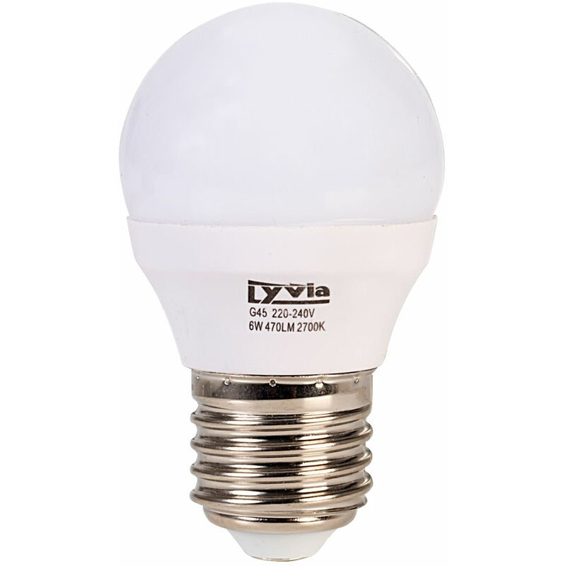 Image of LyvEco 3641 Golf Ball LED Light Bulb Warm White 6W 470lm 2700K ES E27