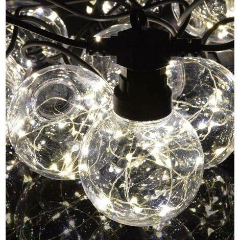 Lyyt LED 7.5 Metre Festoon Waterproof (10 Lights) Warm White String Outdoor External Patio Light