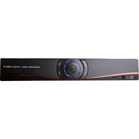 m-e modern-electronics 4-Kanal Netzwerk-Videorecorder 55325 DVR 3004