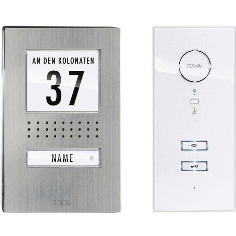 m-e modern-electronics Vistadoor 41137 Interphone filaire Set complet 1 foyer acier inoxydable, blanc