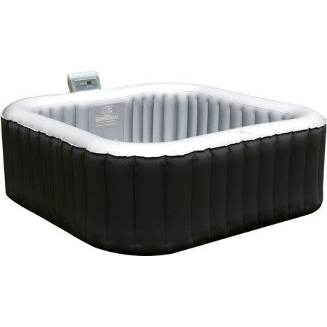 M-Spa Inflatable Spa 4 Seater - Alpine - Black