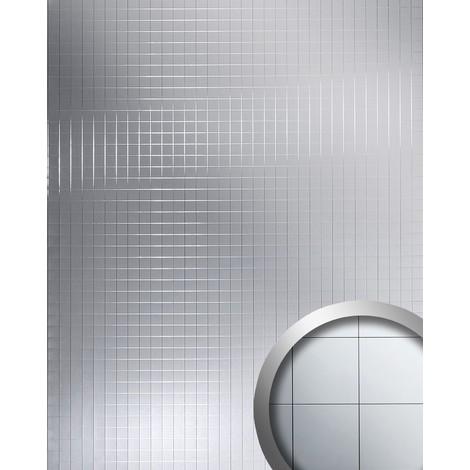 M-Style Revêtement mural Panneau mural autoadhésif WallFace 14279 Mosaique spéculaire argenté 2,60 m2