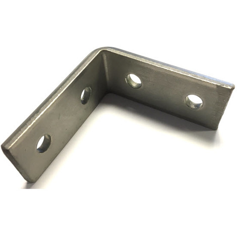 M10 4 Hole Angle Plate (1070) for Channels T304 Stainless Steel (As Unistrut / Oglaend)