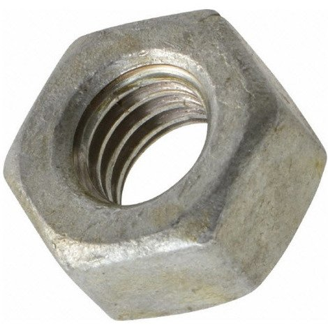 M10 Hexagon Nut - Din 934 - Self Colour Mild Steel