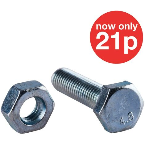 M10 x 40mm Hex Bolt(2PC) with M10 NUT (2PC)