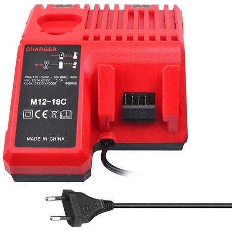 M12-18C Li-Ion Chargeur De Batterie Pour Milwaukee 12 V 14.4V 18V C1418C 48-11-1815 / 1828/1840 M18 M14 M12 Batterie Au Lithium