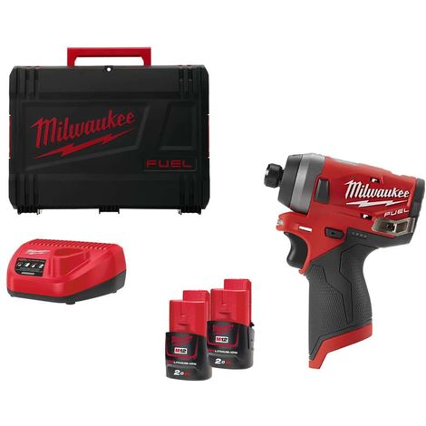 M12 impact driver FID-202X MILWAUKEE - 2 batteries 12V Li-Ion 2.0 Ah - 1 charger 4933459823