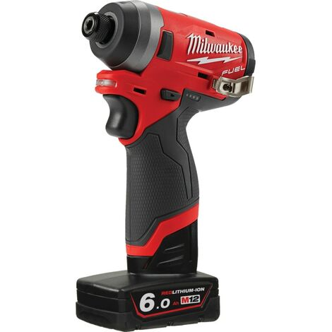 M12FID-602X M12 FUEL™ 1/4 in Hex Compact Impact Driver, 2 x 6.0Ah Batteries and Charger