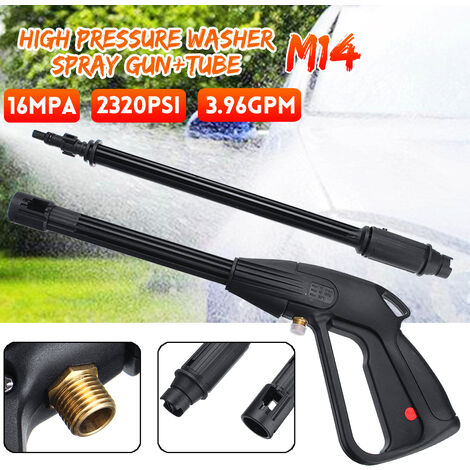 M14 High Pressure Washer Spray Gun Car Wash Cleaning Extension Wand Kit 160bar 2320PSI