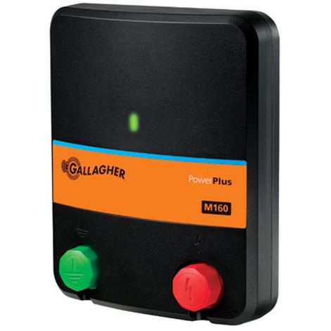 M160 professional 230V mains electric for fences up to 3.5 km suitable for horses, cattle, sheep, dogs, cats, rabbits and poultry