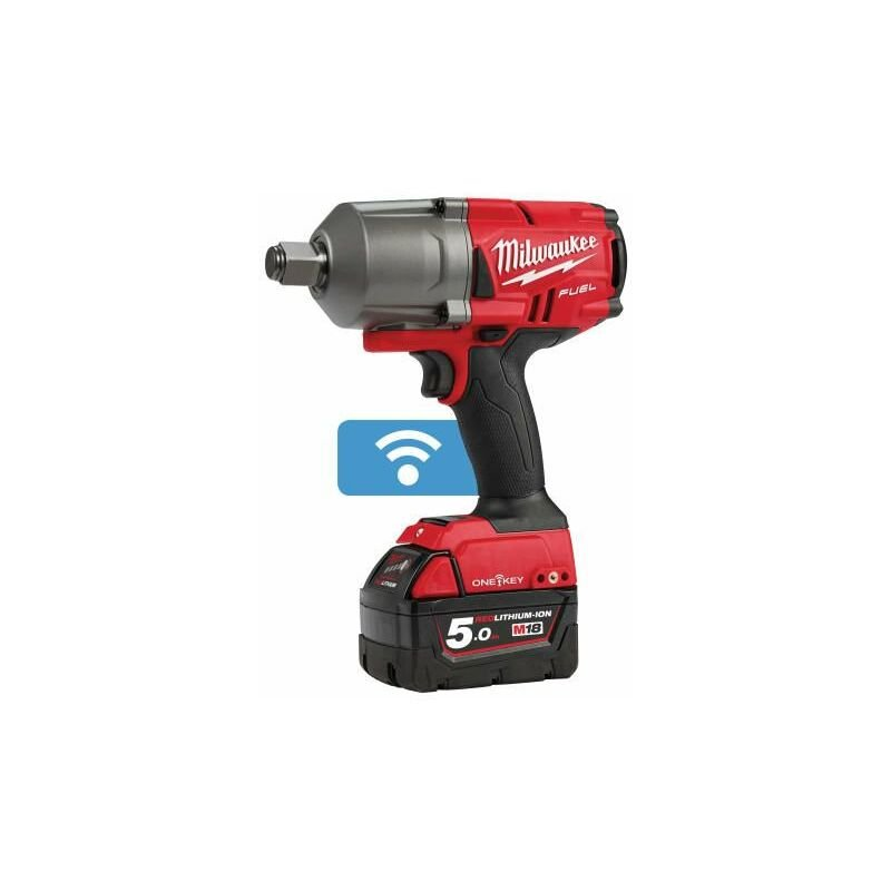 Image of Milwaukee Power Tools - M18 ONEFHIWF34-502X FUEL™ ONE-KEY™ 3/4in Impact Wrench 18V 2 x 5,0Ah Li-ion (MILM18OFWF34)
