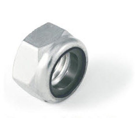 M20 Nylon insert lock nut Nyloc type - Bright Zinc Plated (BZP) DIN985