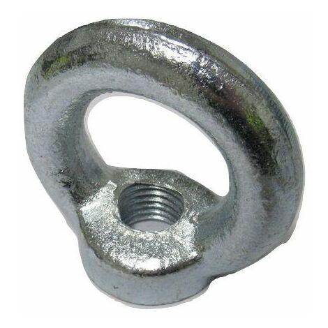 "main image of ""M24 Lifting Eye Nut - 24MM Zinc Plated Threaded Eyenut DIN582 1.8 Ton"""
