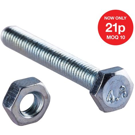 M4 x 30mm Hex Bolt(12PC) with M4 NUT (12PC)