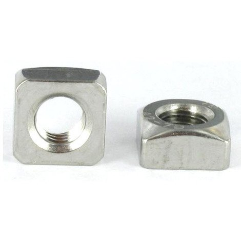 """main image of """"M5 Chamfered Square Nut A2 (T304) Stainless Steel Din 557"""""""