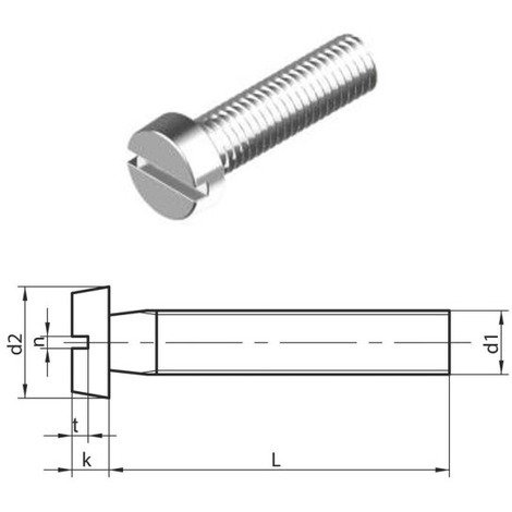 M5 x 20 mm Slotted Cheese head machine Screws (DIN 84) T304 (A2) Stainless Steel