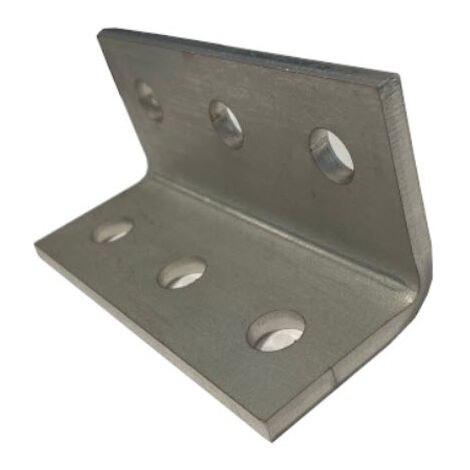 M6 6 Hole Angle Plate (1060) for Channels T304 Stainless Steel (As Unistrut / Oglaend)