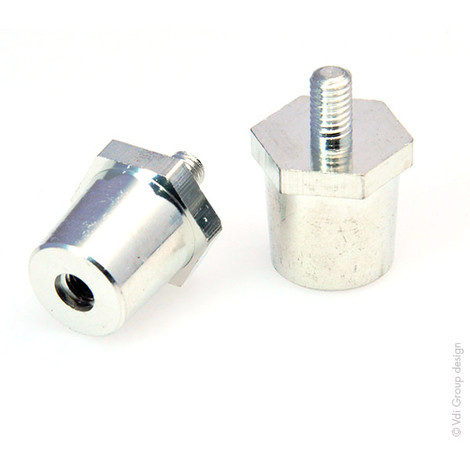 M6 Battery Terminal Adapter: M6 to Car Terminals