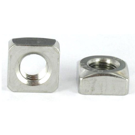 M6 Chamfered Square Nut A2 (T304) Stainless Steel Din 557