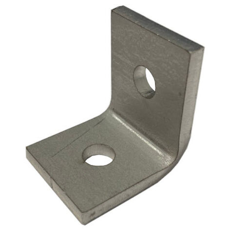 M8 2 Hole Angle Plate (1026) for Channels T304 Stainless Steel (As Unistrut / Oglaend)