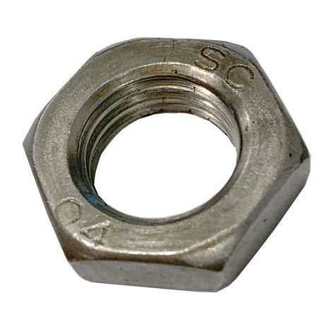 M8 Half Nut - Self Colour Mild Steel DIN439