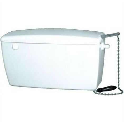 Macdee White High Level Heavy Duty Toilet Cistern + Left / Right Pull Chain Cord