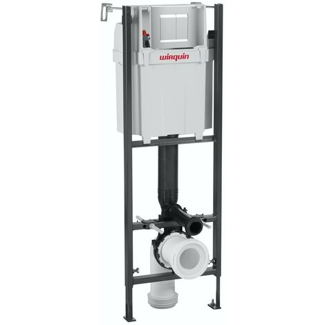 Macdee Wirquin universal wall hung toilet frame with push plate cistern 1m