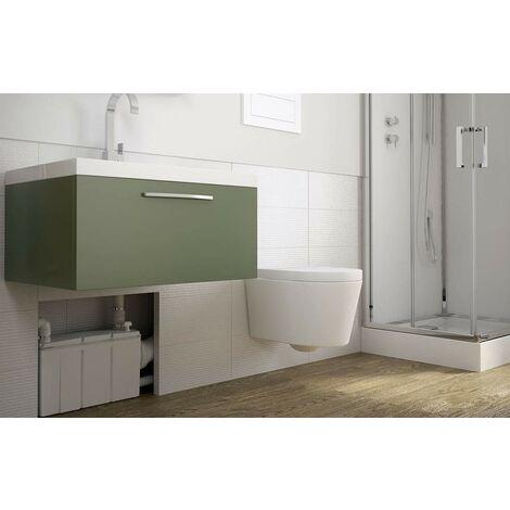 Macerador incorporado para el bol suspendido (3 aparatos + WC)
