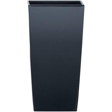Maceta alta 19 L Prosperplast Urbi Square de plástico CON depósito en color Antracita, 45 (alto) x 24 (ancho) x 24 (profundo) cms