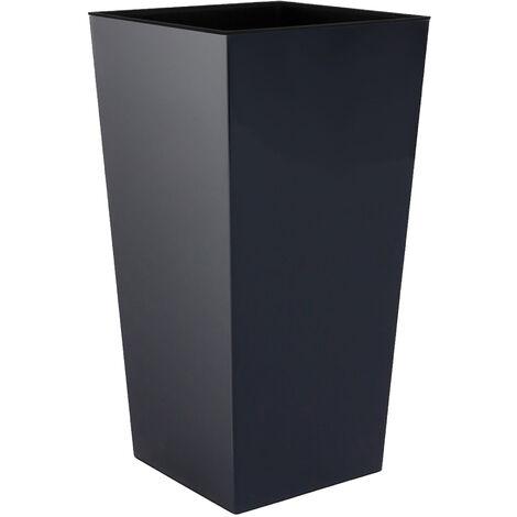 Maceta alta Urbi 49 litros, de plástico, 32,5 x 32,5 x 61 cm Antracita