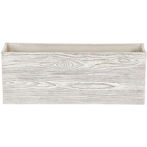 Maceta blanca 54x17x21cm PAOS
