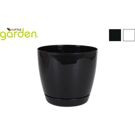 Maceta C/plato 18cm Little Garden - 2 Colores Surtidos