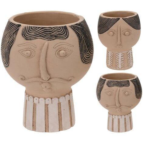 Maceta ceramica busto 13x12 cm