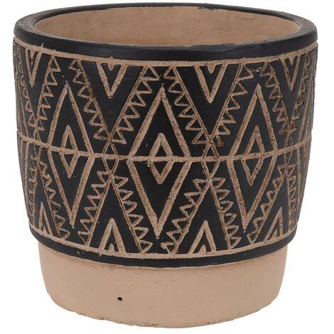 Maceta ceramica etnica 14x13 cm