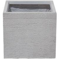 Maceta cuadrada blanca 30x30x28 cm PAROS