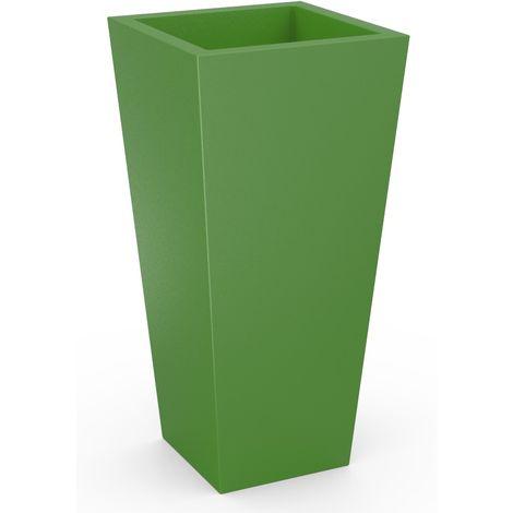 Maceta cuadrada de resina color verde cm 120x45x51 Plart Design - prodotto made in Italy AR1914/VERDE