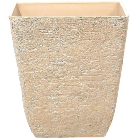 Maceta cuadrada en color beige 49x49x53 cm DELOS