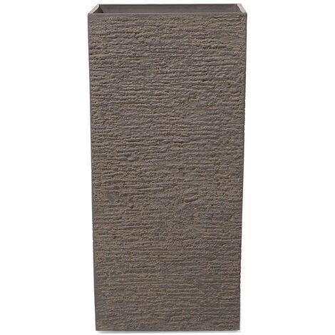 Maceta cuadrada marrón oscuro 40x40x81 cm GAZA